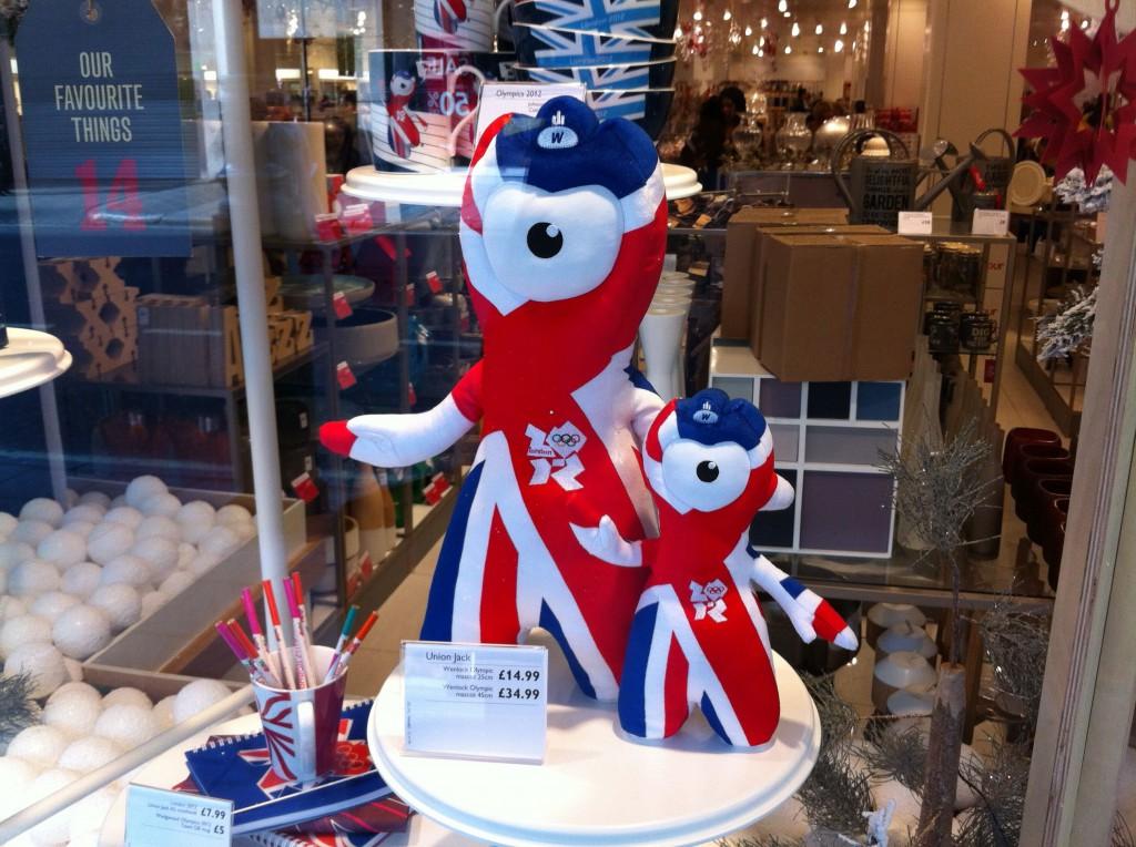 John Lewis Union Jack Wenlock 2012 Olympic mascot