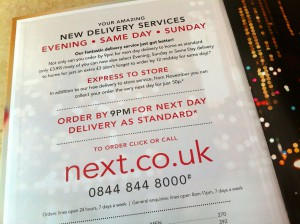 Next Directory 2012 - offering same day delivery
