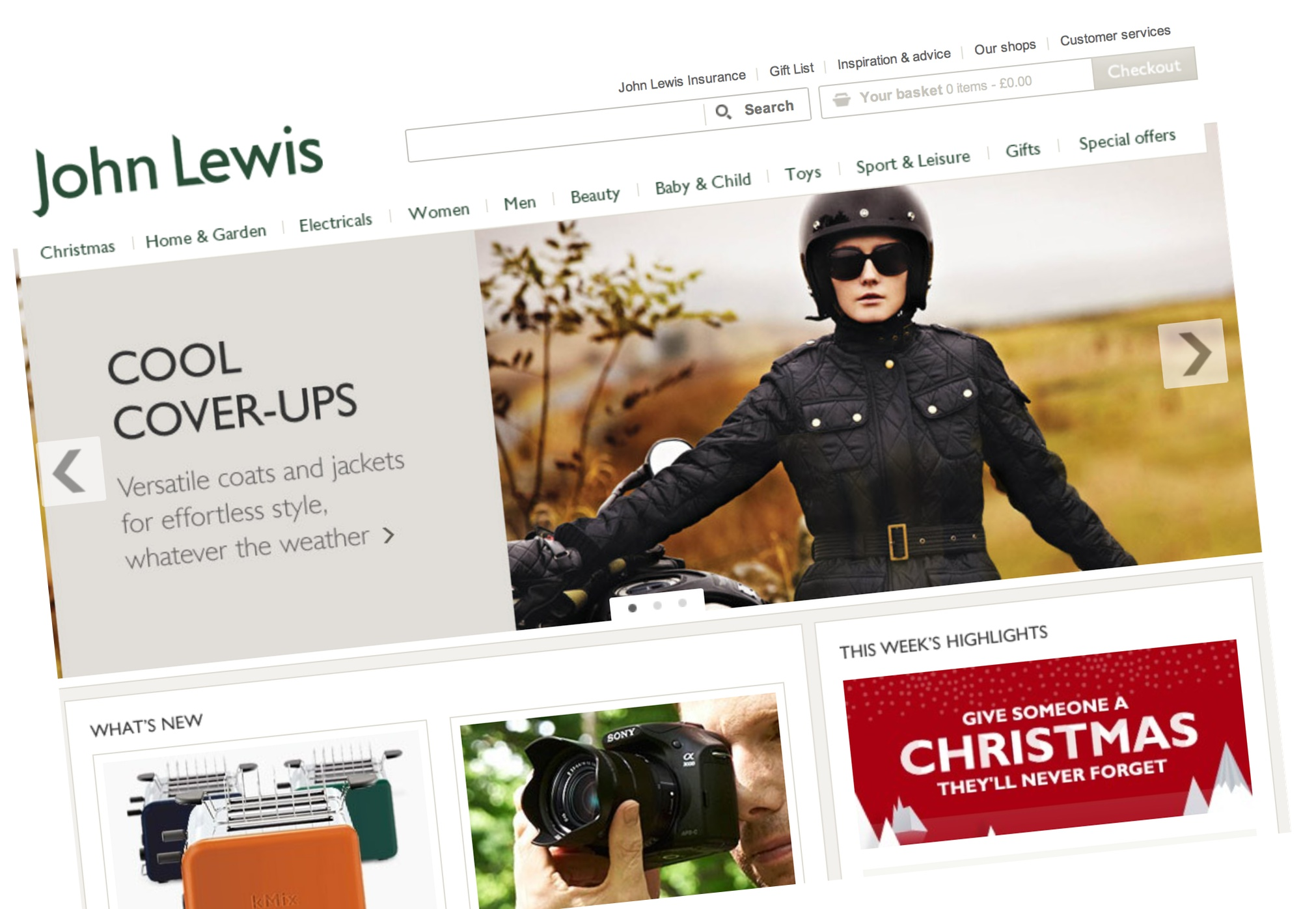 John Lewis Christmas 2013 Online store launched.