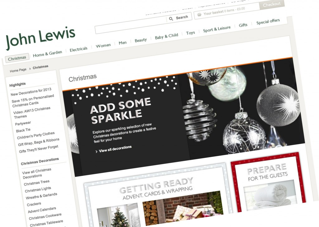 John Lewis 2013 Christmas Catalogue