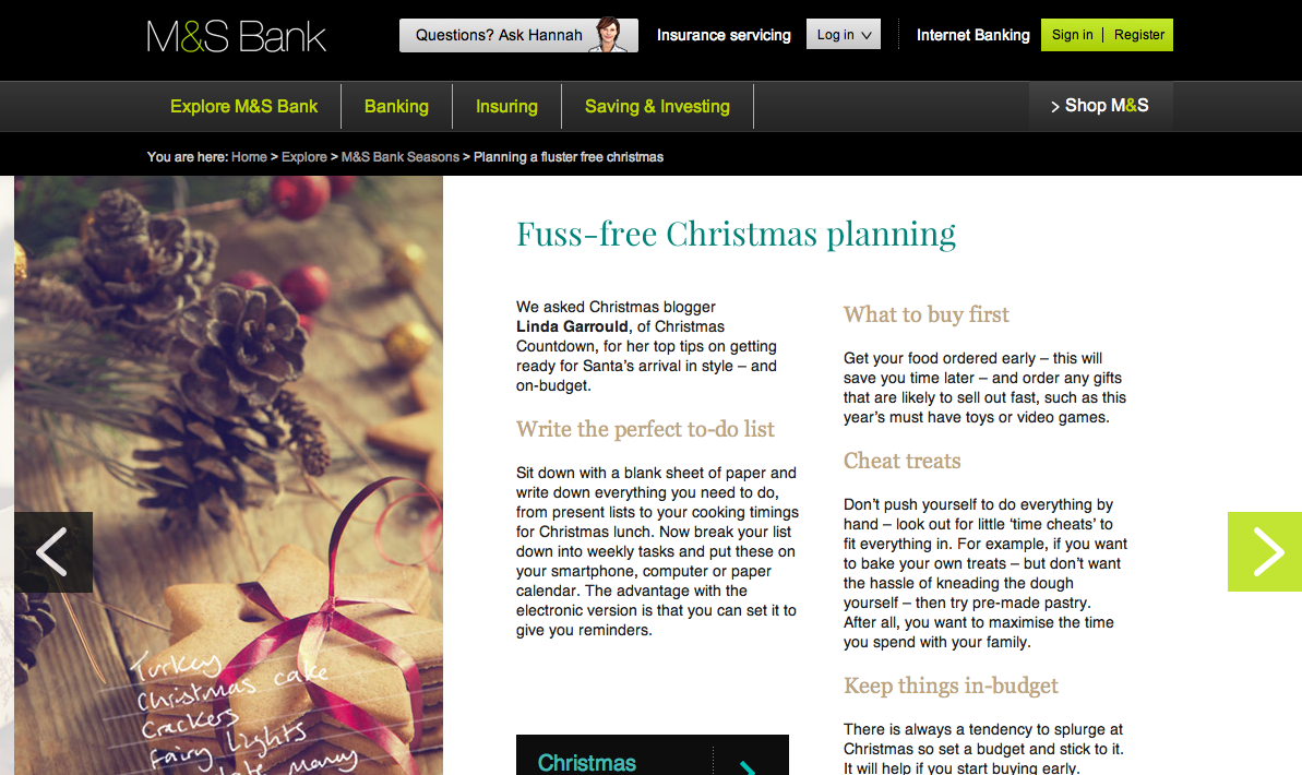 M&S Fluster Free plan for Christmas