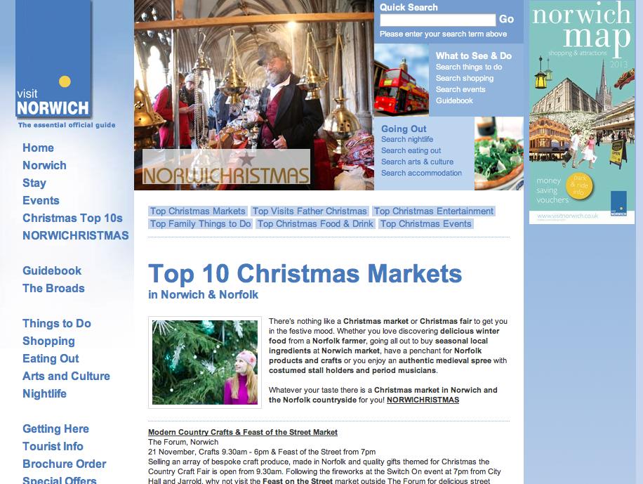Visit Norwich's Christmas Fairs
