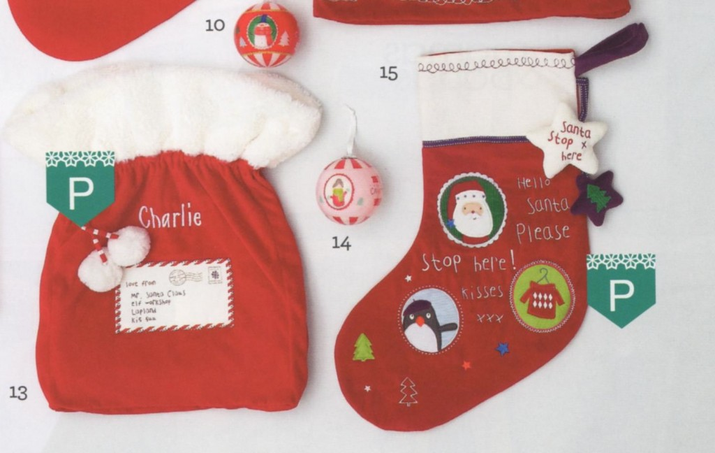 Mamas and Papas Christmas stocking