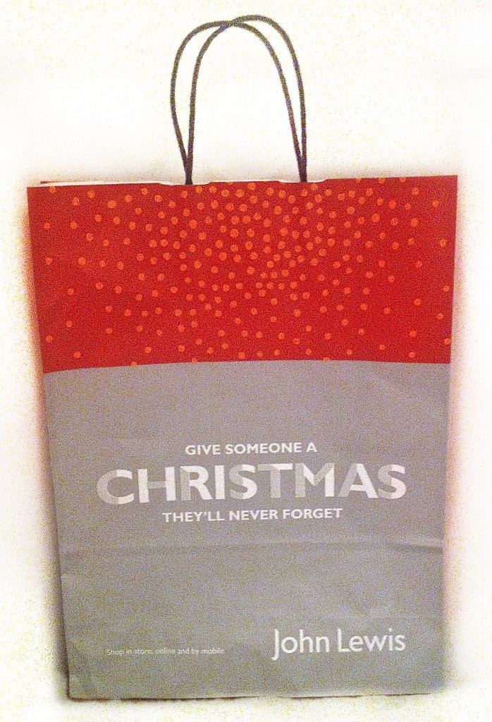 John Lewis Christmas 2013 Branded Bag