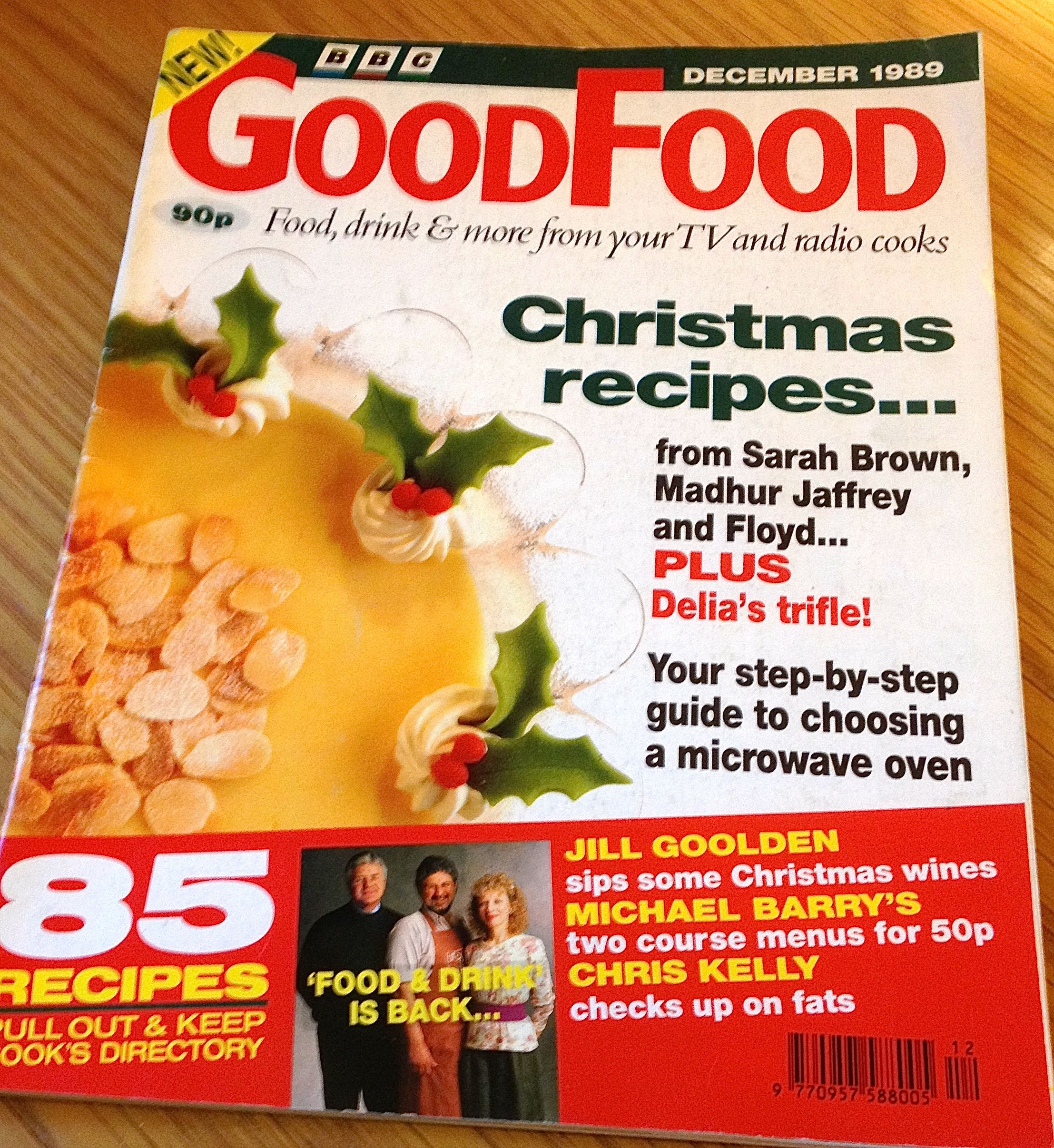 BBC Good Food Magazine December 1989 Front Cover