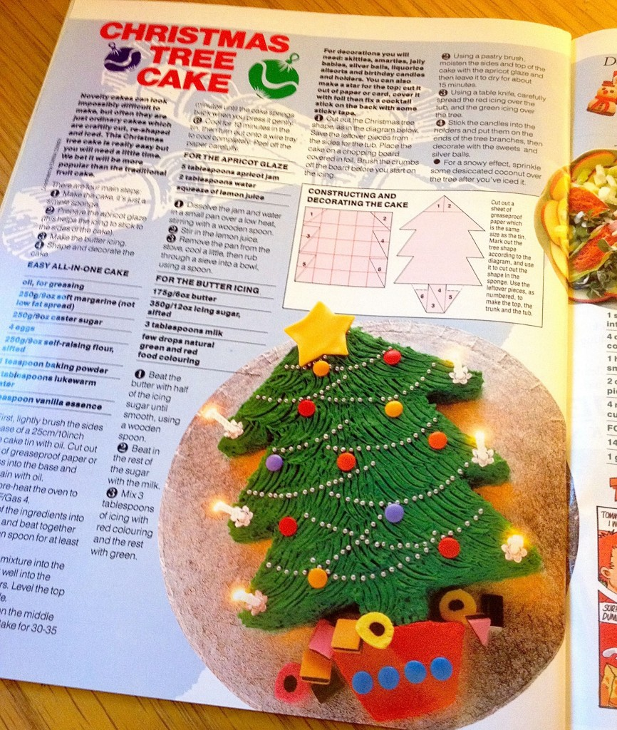 BBC Good Food Magazine December 1989 Christmas Tree Cake