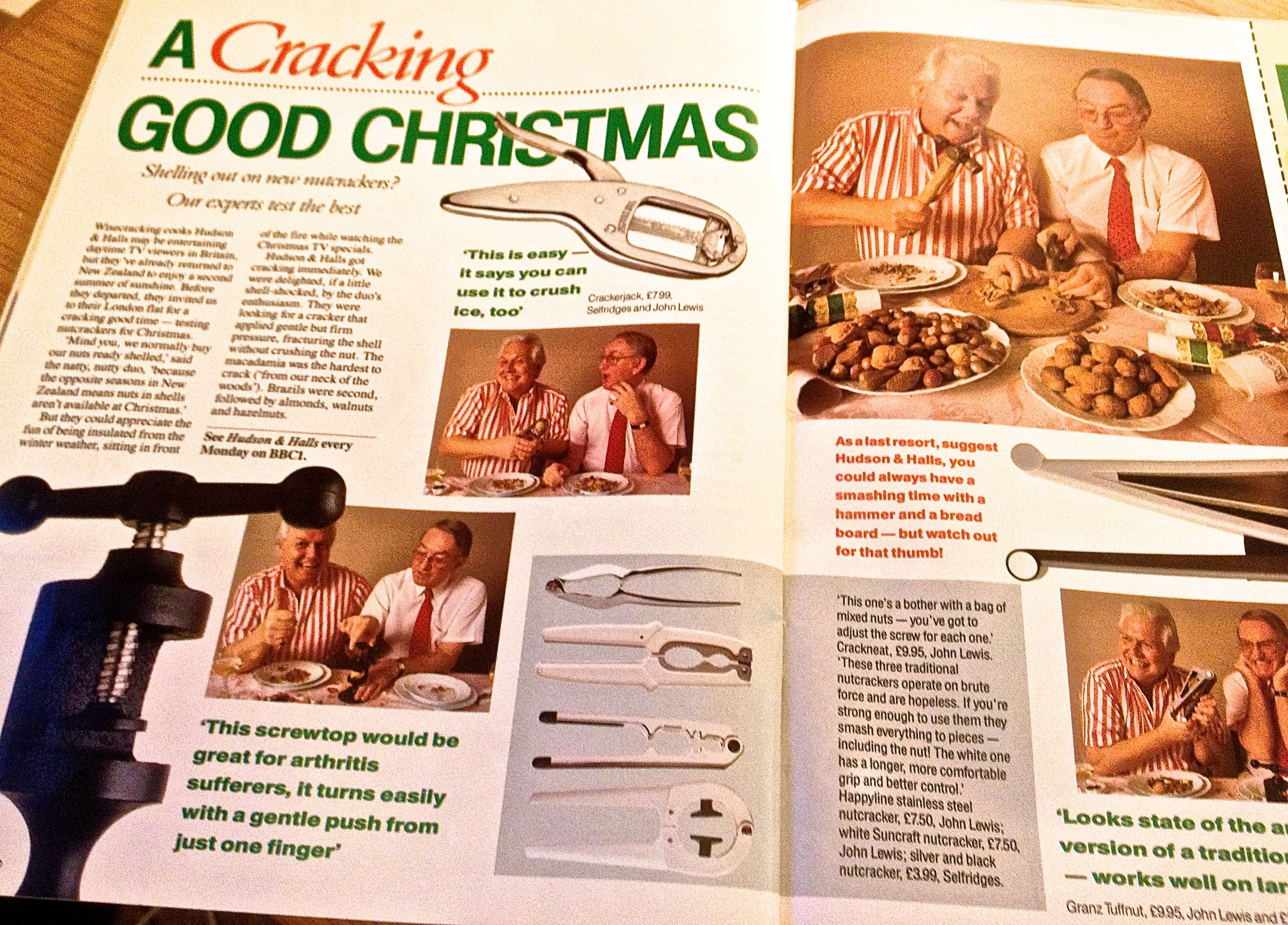 What christmas looked like in 1989 the first bbc good food magazine bbc good food magazine 1989 guide to nut crackers forumfinder Gallery