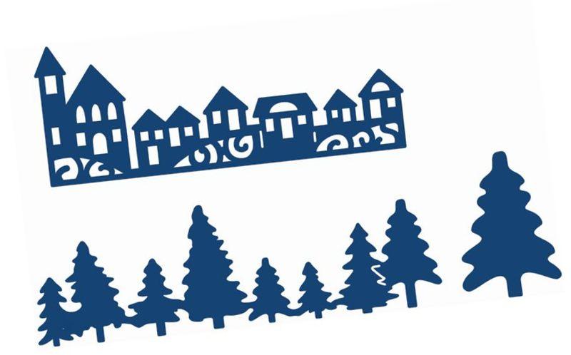 Hobby Craft Paper die cut winter scene