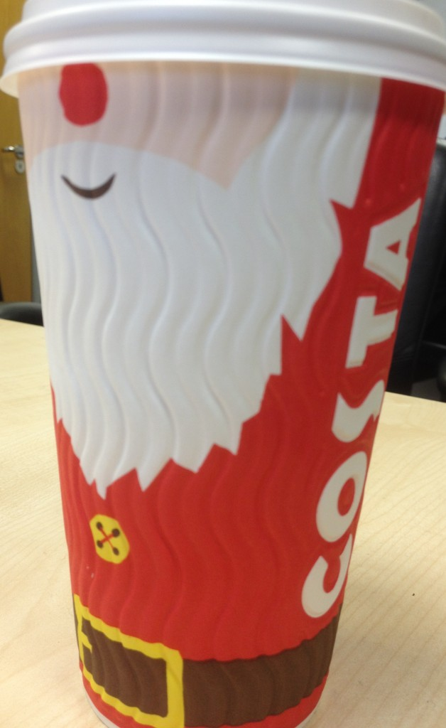 Costa Coffee Christmas 2014 Branding