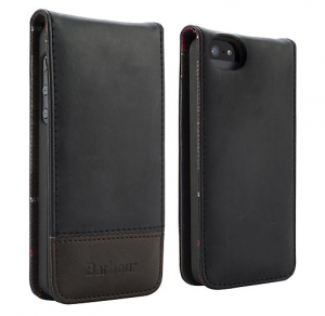 Barbour Leather Flip Case for iPhone 5 & 5s, Black