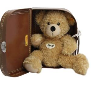 Steiff 28cm Fynn Teddy Bear in Suitcase (Beige)