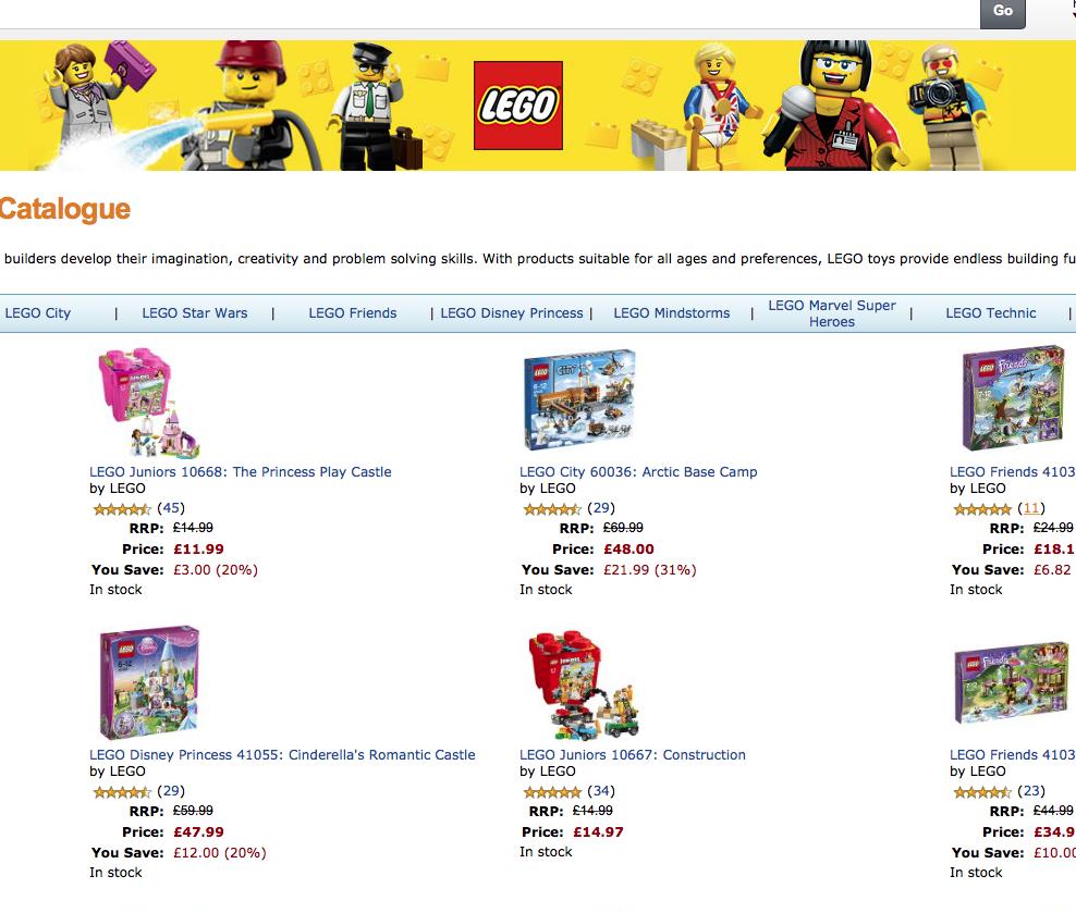 Amazon Christmas Lego Shop