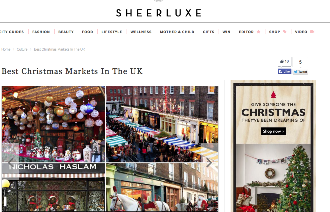 Sheer luxe Guide to Christmas Markets