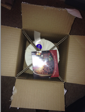 Figgys Christmas Pudding Received in the Post