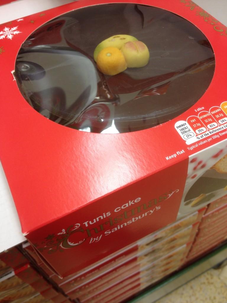 Sainsburys Tunis Cake 2014