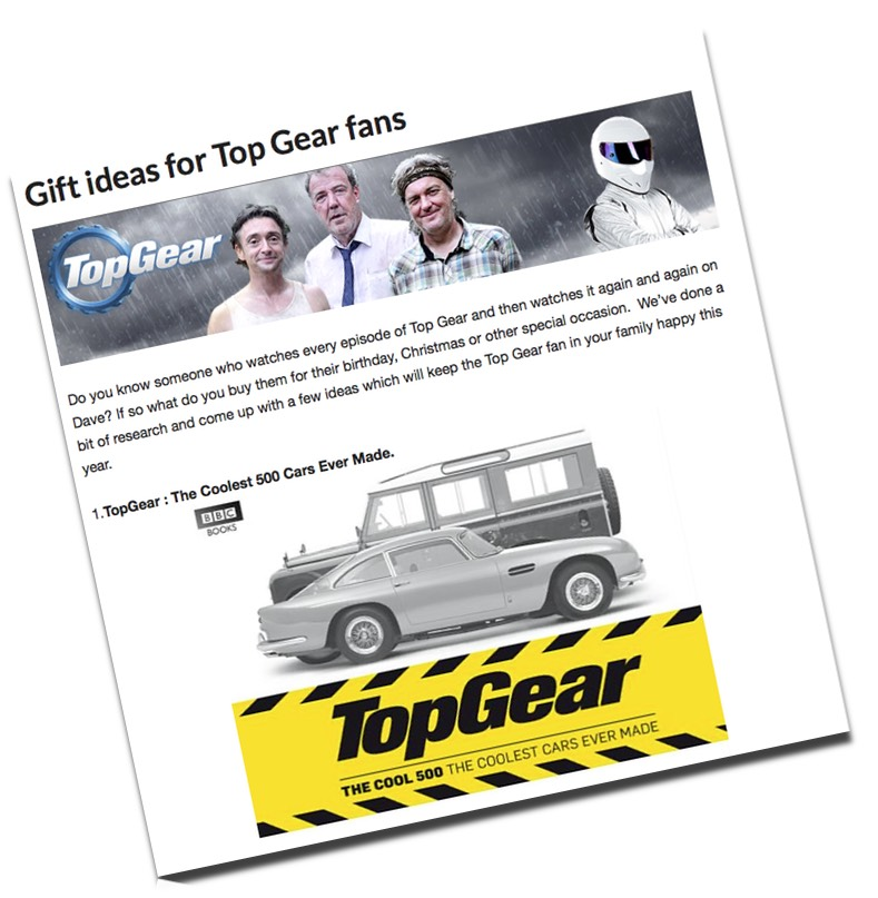 Gift Ideas for TopGear Fans