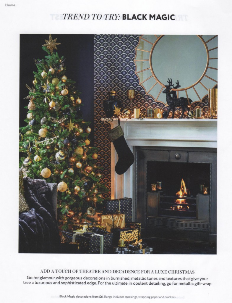 House of Fraser Christmas 2014 Black Magic Christmas Design