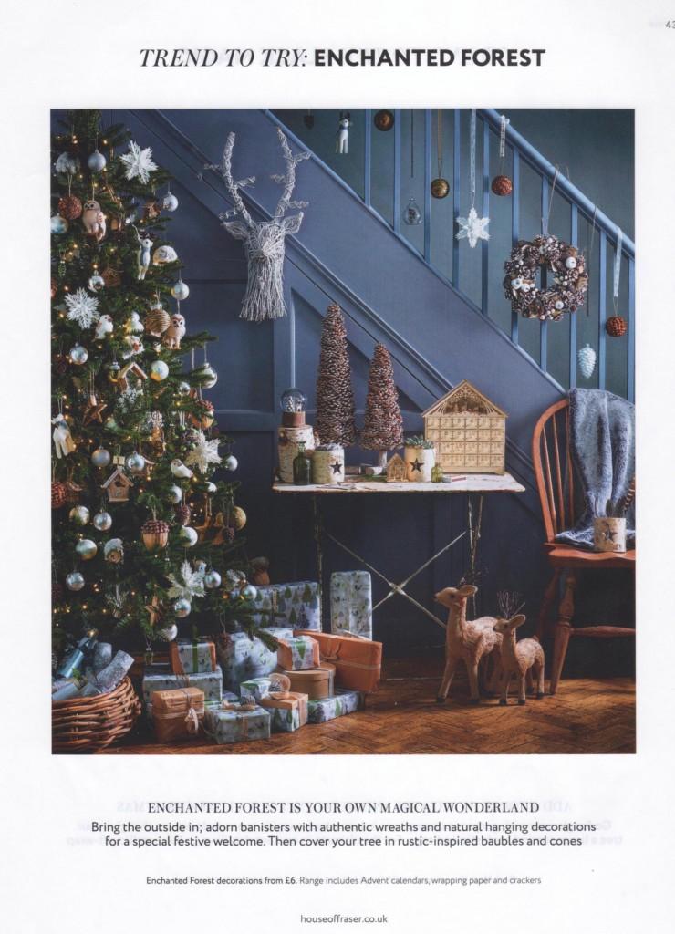 House of Fraser Christmas 2014 Enchanted Forest Christmas Design