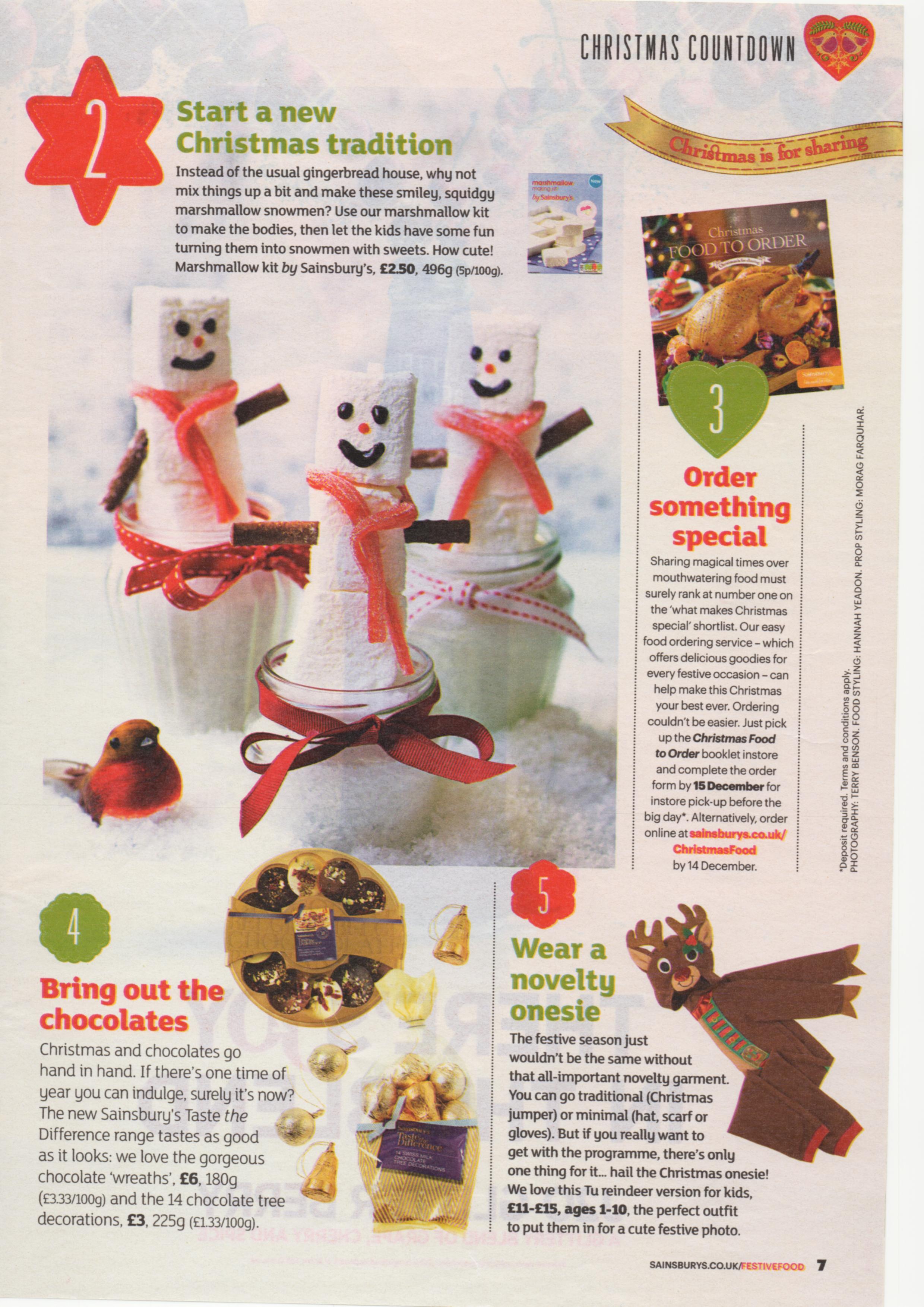 Sainsburys Christmas Magazine 2014 25 Day Countdown To