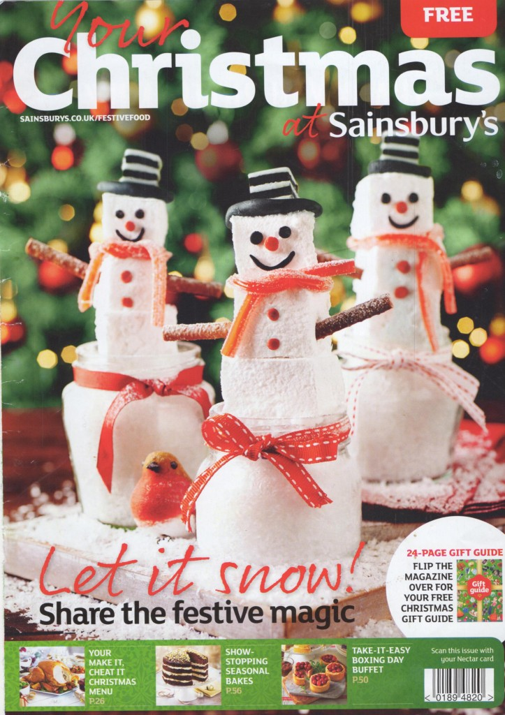 Sainsbury's Christmas 2014 Magazine cover page