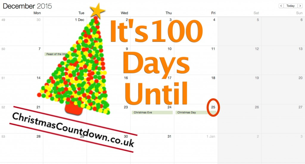 100 Days Until Christmas 2015
