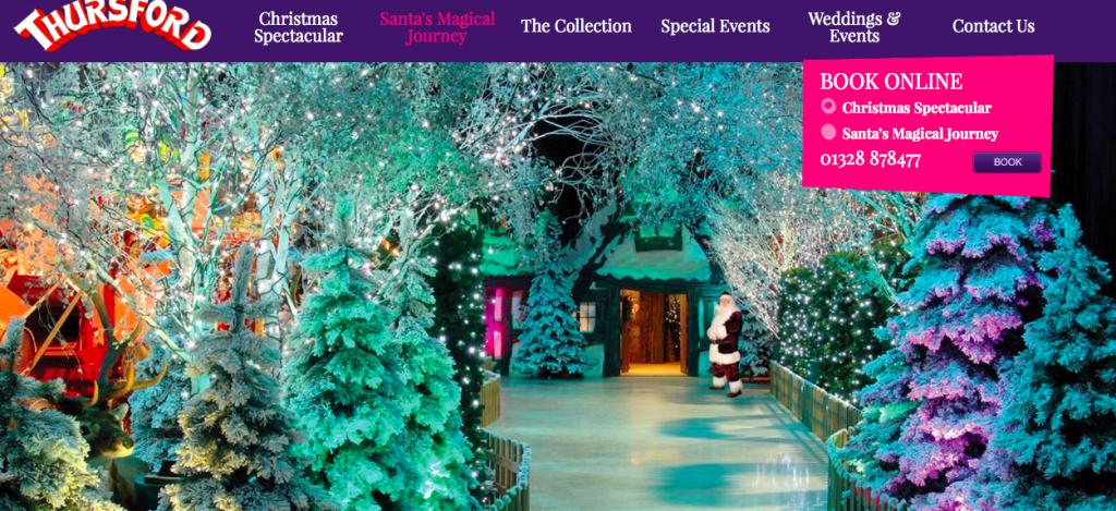 Santa's Magical Journey at Thursford showing Santa's Grotto