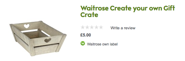 Waitrose build your own crate