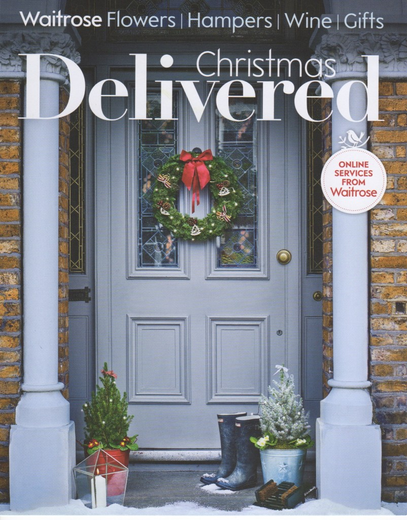 Waitrose Christmas Delivered Brochure 2015 Front Cover