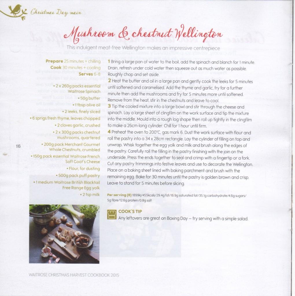 Mushroom and chestnut wellington recipe