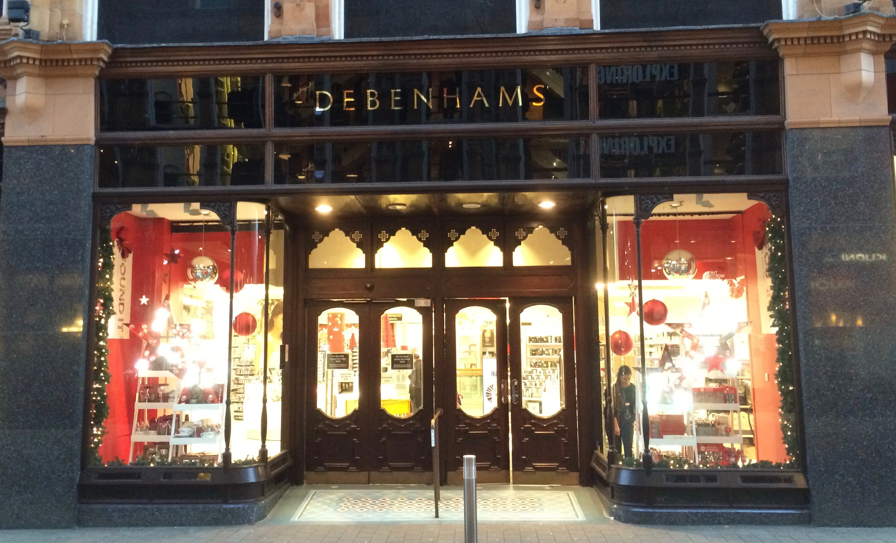 A quick visit to Debenhams in Leeds for some Christmas shopping