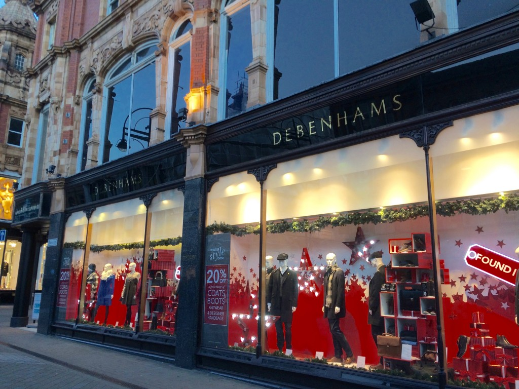 Debenhams Leeds shop windows