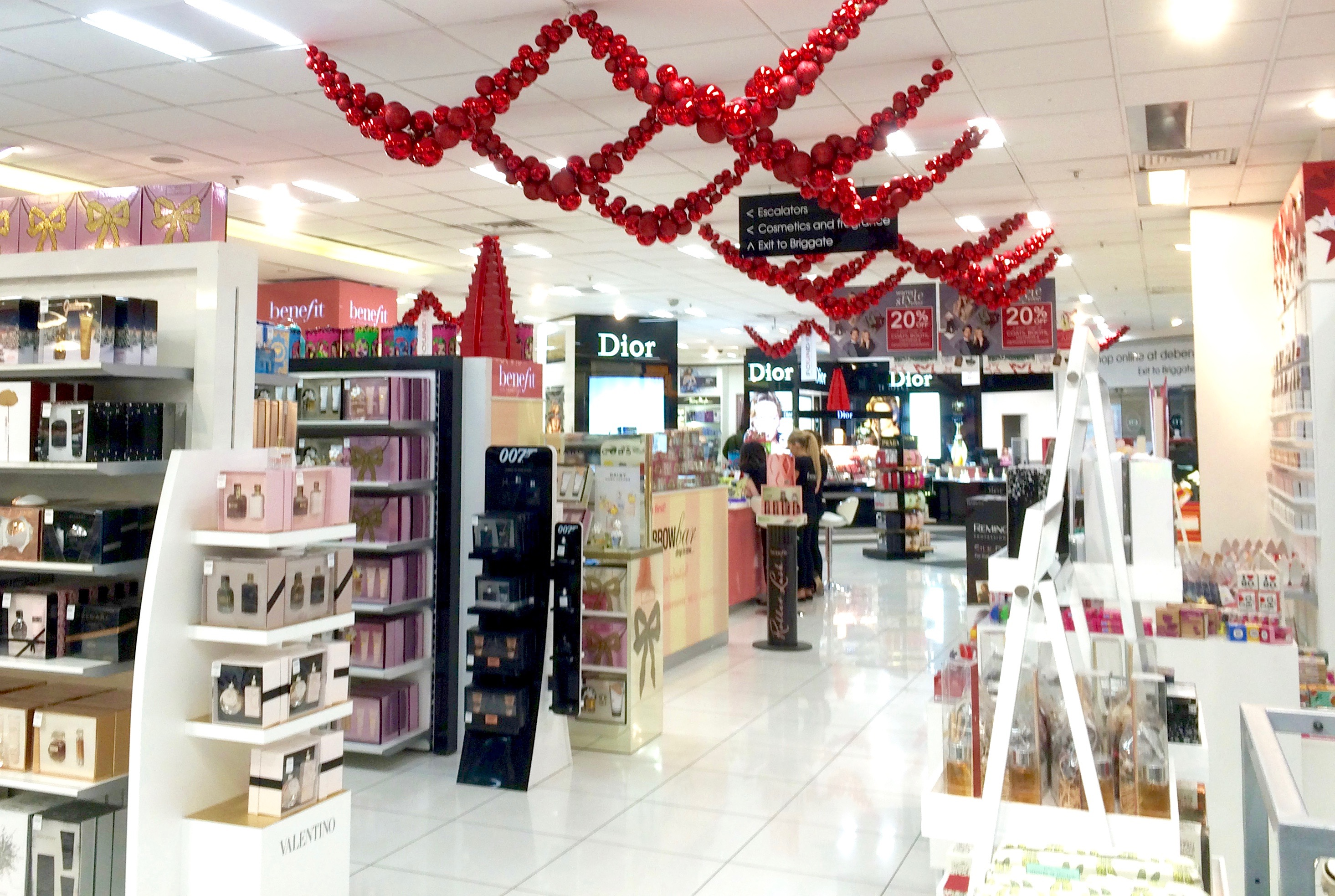 A Quick Visit To Debenhams In Leeds For Some Christmas