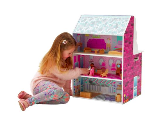 Chad Valley - dolls house at back of play kitchen