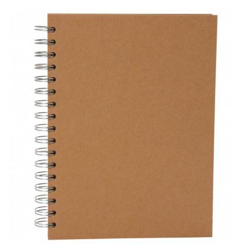 Kraft Journal for own decoration