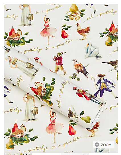 Marks and Spencer 12 days of Christmas Wrapping Paper