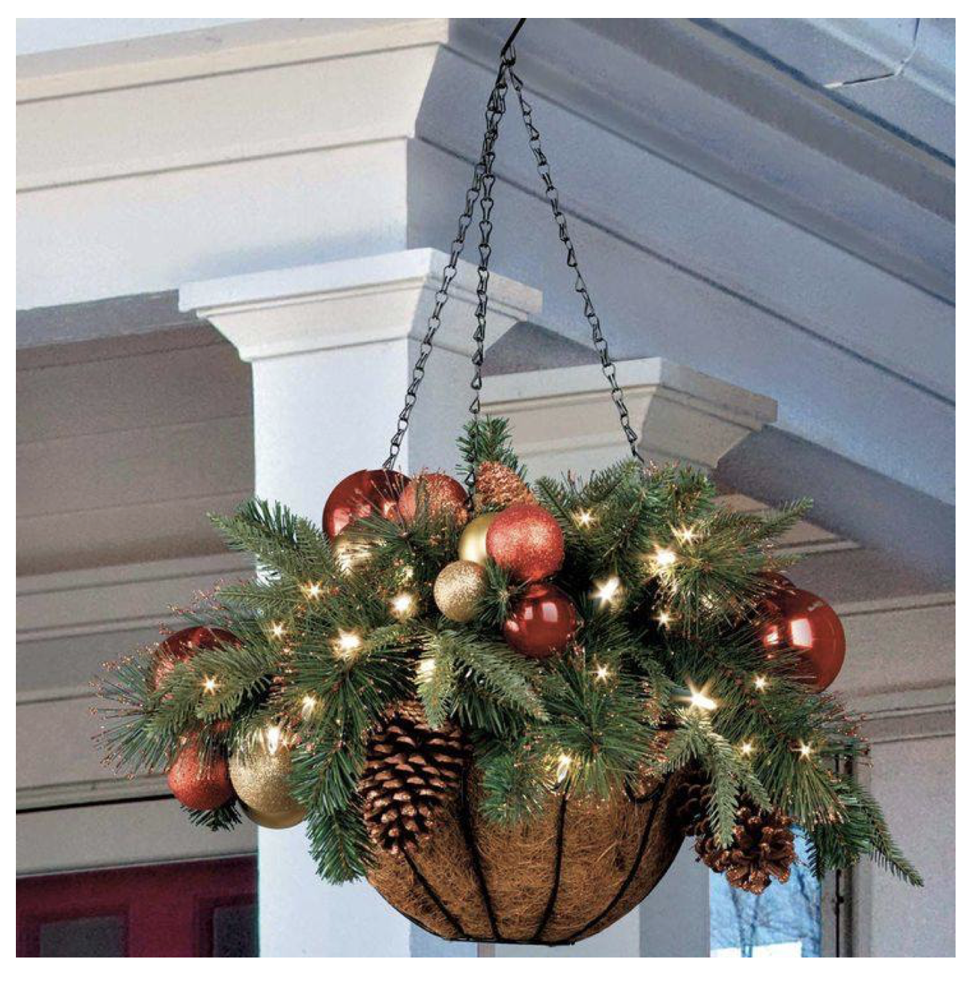 Christmas Hanging Basket