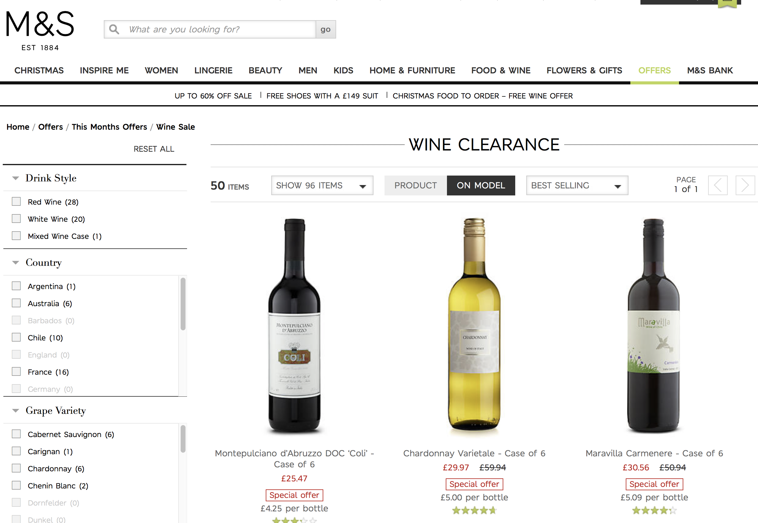 Time to stock up for Christmas: M&S Wine Clearance Sale until the end of October