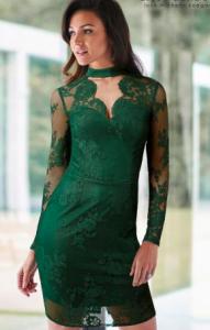 Lipsy Love Michelle Keegan green scallop dress