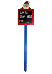 Dobbies Santa Stop Sign