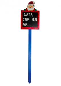 Dobbies Santa Stop Sign