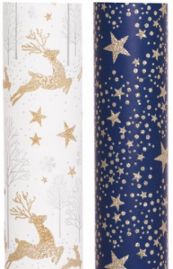 WH Smith Christmas Stag and Star Wrapping Paper