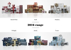 WH Smith Christmas Wrapping Paper 2016