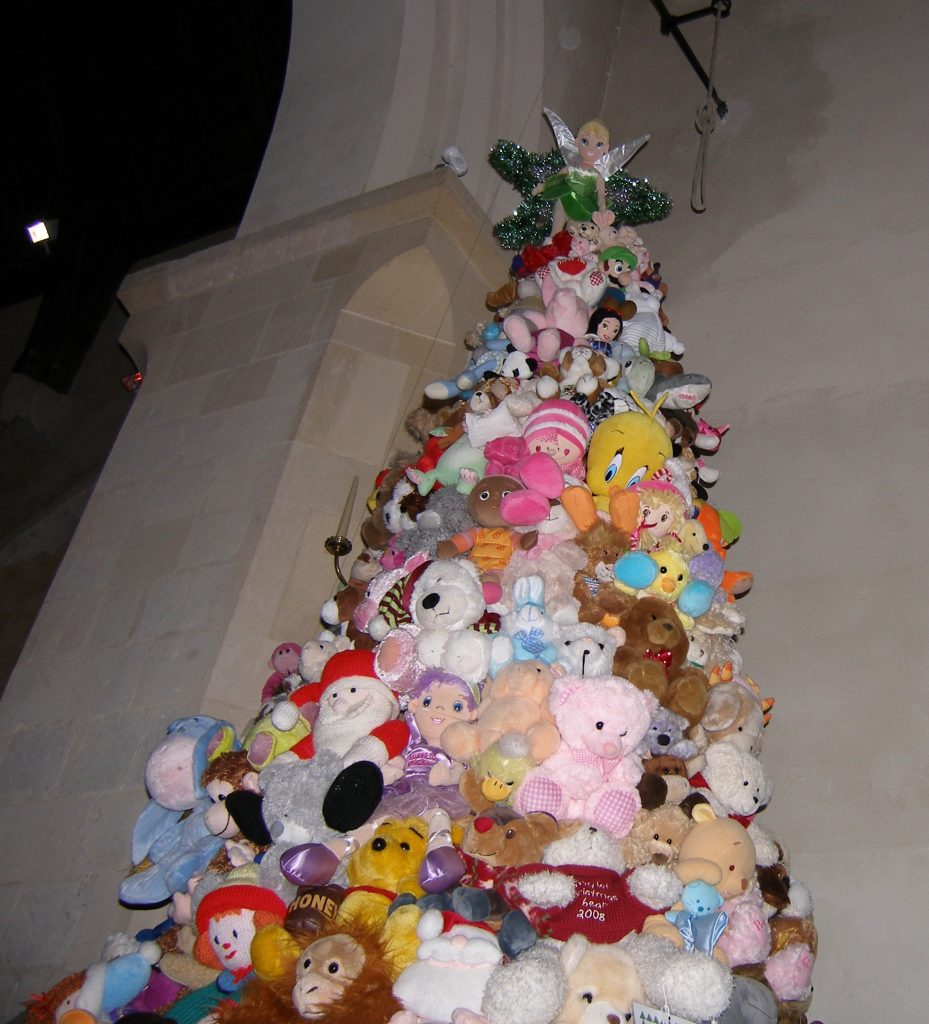 A teddybear Christmas tree