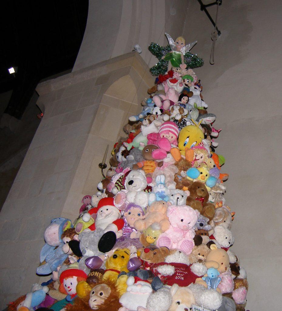A teddybear Christmas tree