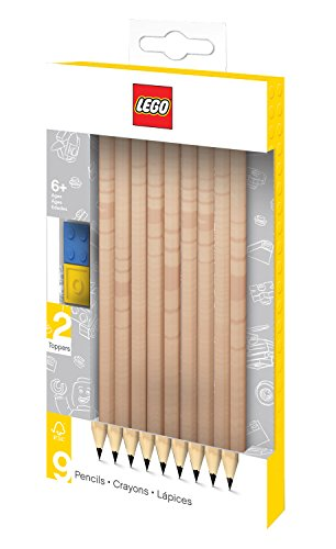Lego Pencil Set with Toppers - Black by null