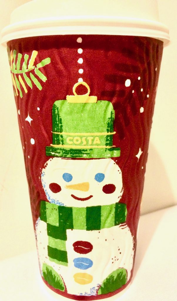 Costa Coffee Christmas 2017 cup design