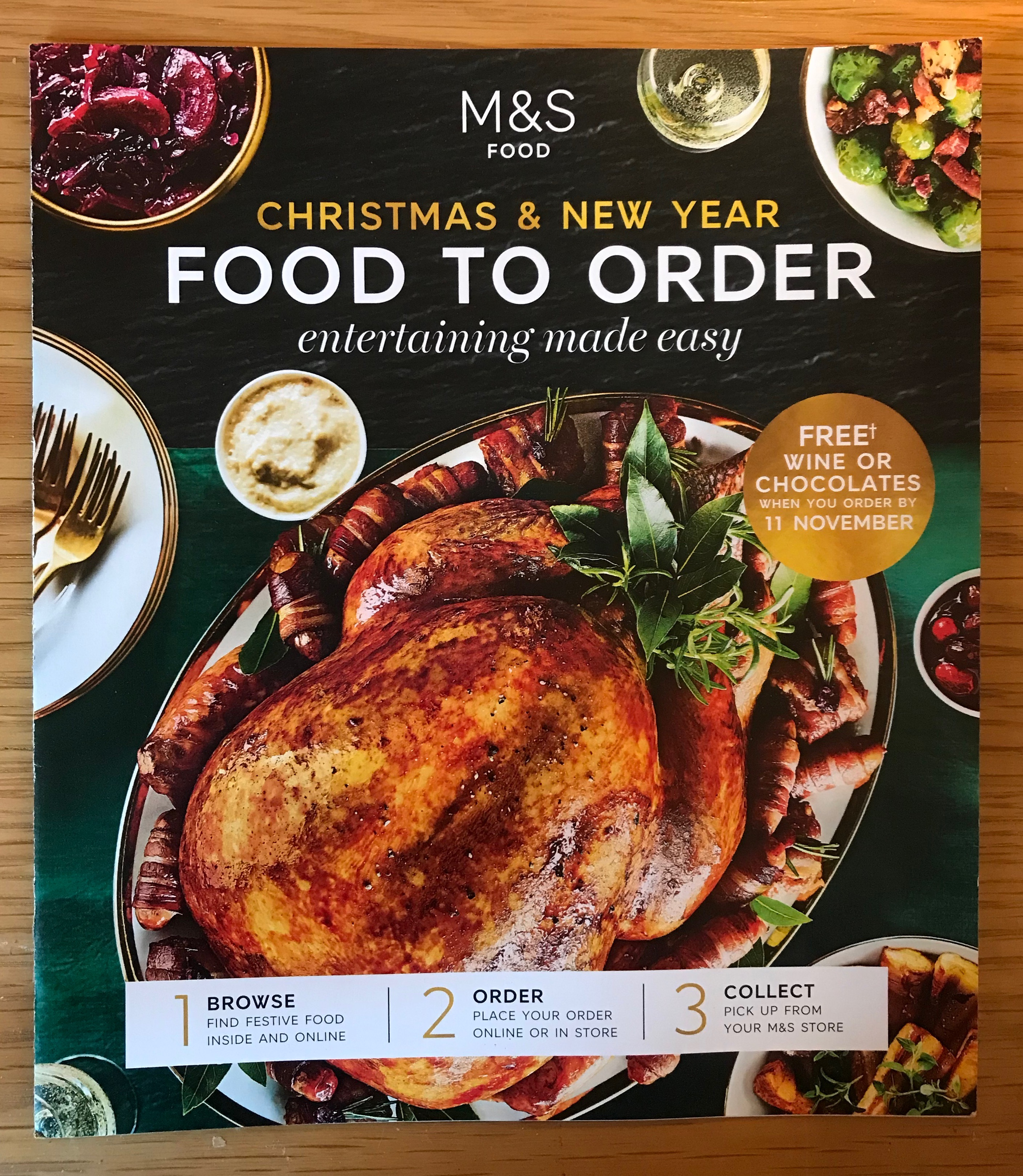 2018 Marks and Spencer Christmas and New Year Food Brochure