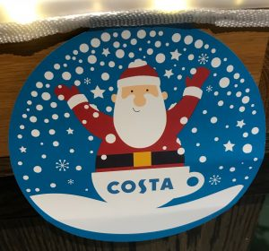 Costa Coffee Christmas Branding 2018