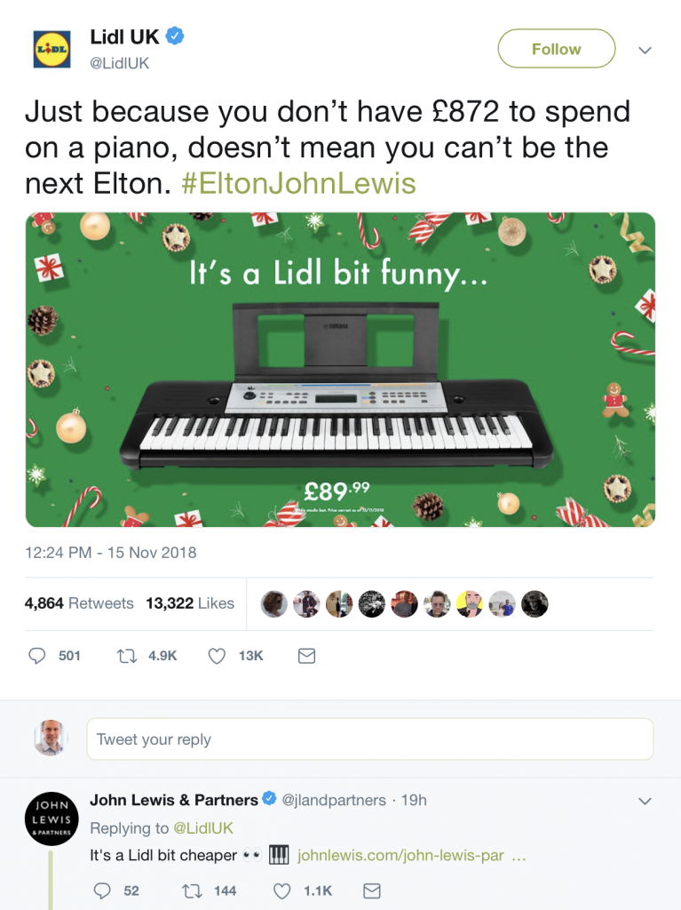 LIDL respond to John Lewis Christmas advert