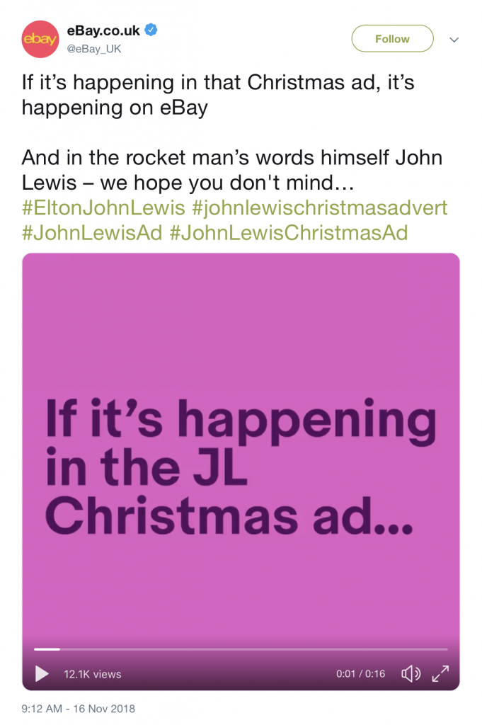 eBay responds to John Lewis Christmas